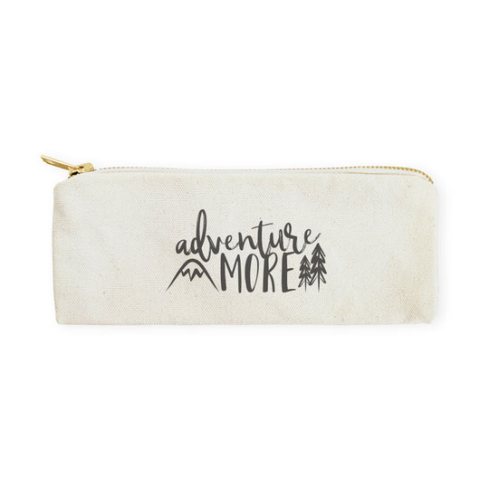 Adventure More Cotton Canvas Pencil Case and Travel Pouch - The Cotton and Canvas Co.