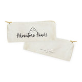 Adventure Awaits Cotton Canvas Pencil Case and Travel Pouch - The Cotton and Canvas Co.