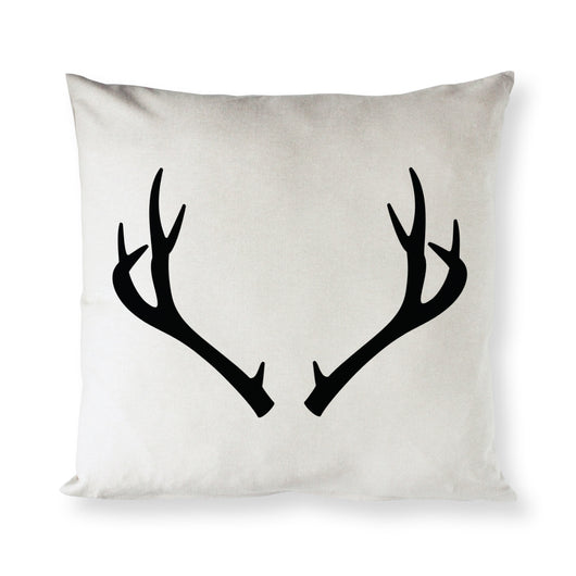 Deer Antler Christmas Holiday Pillow Cover - The Cotton and Canvas Co.