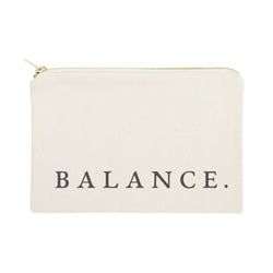 Balance Cotton Canvas Cosmetic Bag - The Cotton and Canvas Co.