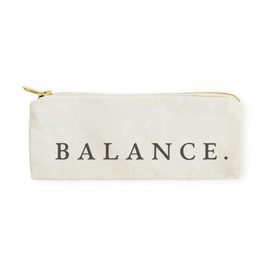 Balance Cotton Canvas Pencil Case and Travel Pouch - The Cotton and Canvas Co.