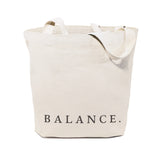 Balance Gym Cotton Canvas Tote Bag - The Cotton and Canvas Co.