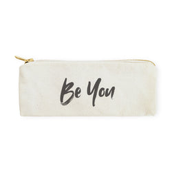 Be You Cotton Canvas Pencil Case and Travel Pouch - The Cotton and Canvas Co.