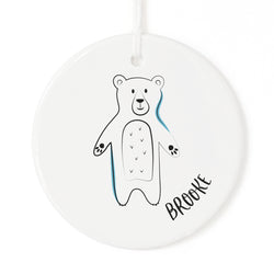 Personalized Name Bear Christmas Ornament - The Cotton and Canvas Co.