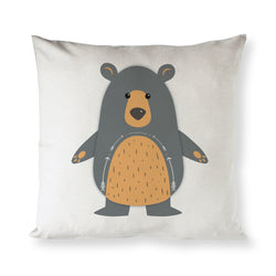 Bear Baby Cotton Canvas Pillow Cover - The Cotton and Canvas Co.