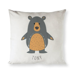 Personalized Bear Baby Pillow Cover - The Cotton and Canvas Co.