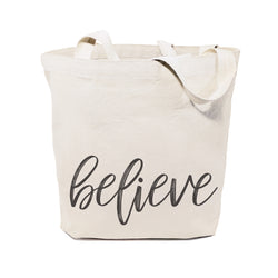 Believe Gym Cotton Canvas Tote Bag - The Cotton and Canvas Co.