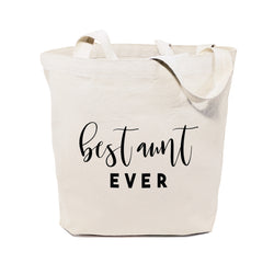 Best Aunt Ever Cotton Canvas Tote Bag - The Cotton and Canvas Co.
