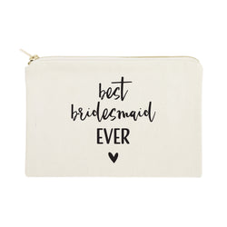 Best Bridesmaid Ever Cotton Canvas Cosmetic Bag - The Cotton and Canvas Co.