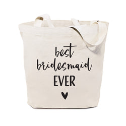 Cotton Canvas Best Bridesmaid Ever Wedding Tote Bag - The Cotton and Canvas Co.