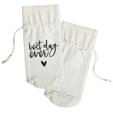 Best Day Ever Canvas Wine Bag - The Cotton and Canvas Co.