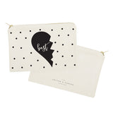 Best Friends Cotton Canvas Cosmetic Bag, 2-Pack - The Cotton and Canvas Co.