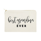 Best Grandma Ever Cotton Canvas Cosmetic Bag - The Cotton and Canvas Co.
