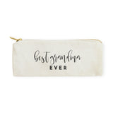 Best Grandma Ever Cotton Canvas Pencil Case and Travel Pouch - The Cotton and Canvas Co.