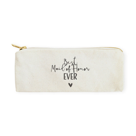 Best Maid of Honor Ever Cotton Canvas Pencil Case and Travel Pouch - The Cotton and Canvas Co.