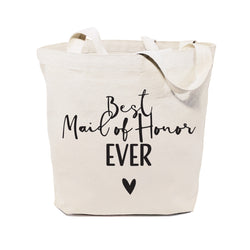 Cotton Canvas Best Maid of Honor Ever Wedding Tote Bag - The Cotton and Canvas Co.