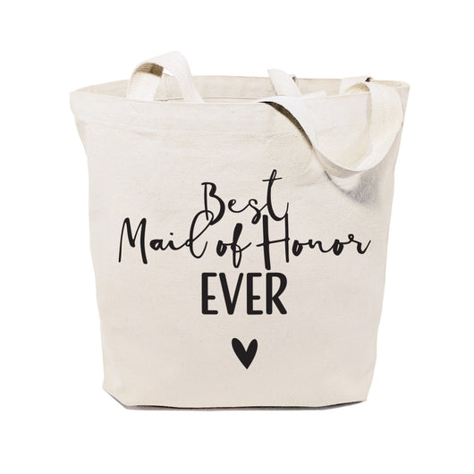 Best Maid of Honor Ever Wedding Cotton Canvas Tote Bag - The Cotton and Canvas Co.