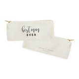 Best Mom Ever Cotton Canvas Pencil Case and Travel Pouch - The Cotton and Canvas Co.