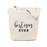 Best Mom Ever Cotton Canvas Tote Bag - The Cotton and Canvas Co.