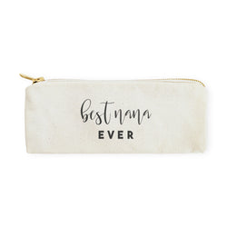 Best Nana Ever Cotton Canvas Pencil Case and Travel Pouch - The Cotton and Canvas Co.