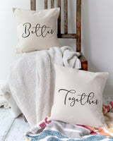 Better Together Cotton Canvas Pillow Covers, 2-Pack - The Cotton and Canvas Co.