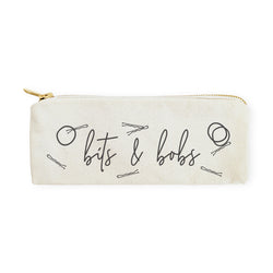 Bits & Bobs Cotton Canvas Pencil Case and Travel Pouch - The Cotton and Canvas Co.
