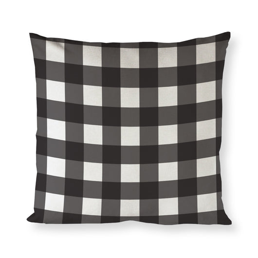 Black and White Plaid Cotton Canvas Christmas Holiday Pillow Cover - The Cotton and Canvas Co.