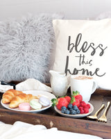 Bless This Home Cotton Canvas Pillow Cover - The Cotton and Canvas Co.