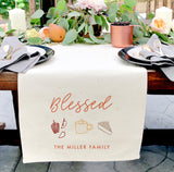 Personalized Family Last Name Blessed Canvas Table Runner - The Cotton and Canvas Co.