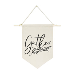 Gather Hanging Wall Banner - The Cotton and Canvas Co.