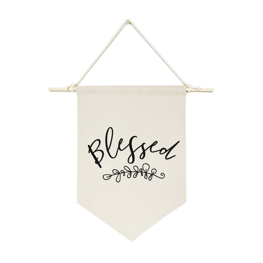 Blessed Hanging Wall Banner - The Cotton and Canvas Co.
