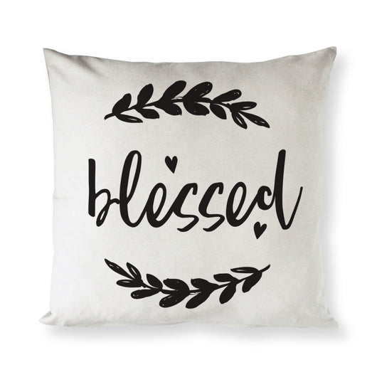 Blessed Cotton Canvas Pillow Cover - The Cotton and Canvas Co.
