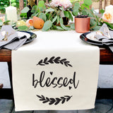 Blessed Cotton Canvas Table Runner - The Cotton and Canvas Co.