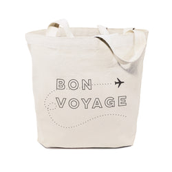 Bon Voyage Cotton Canvas Tote Bag - The Cotton and Canvas Co.