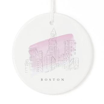 Boston Christmas Ornament