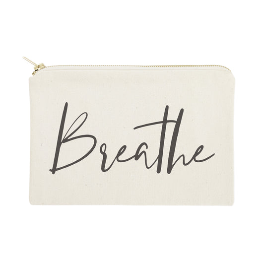 Breathe Cotton Canvas Cosmetic Bag - The Cotton and Canvas Co.