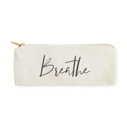 Breathe Cotton Canvas Pencil Case and Travel Pouch - The Cotton and Canvas Co.