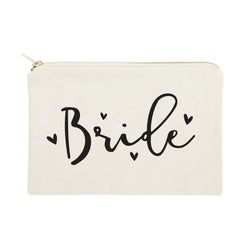 Bride Cotton Canvas Cosmetic Bag - The Cotton and Canvas Co.