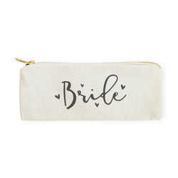 Bride Cotton Canvas Pencil Case and Travel Pouch - The Cotton and Canvas Co.