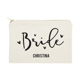 Bride Personalized Cotton Canvas Cosmetic Bag - The Cotton and Canvas Co.