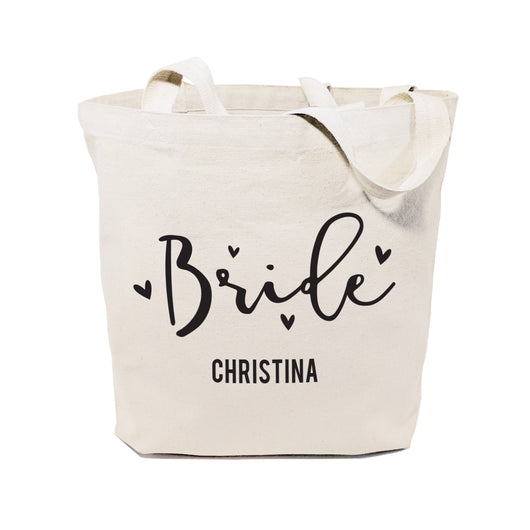 Bride Personalized  Wedding Cotton Canvas Tote Bag - The Cotton and Canvas Co.