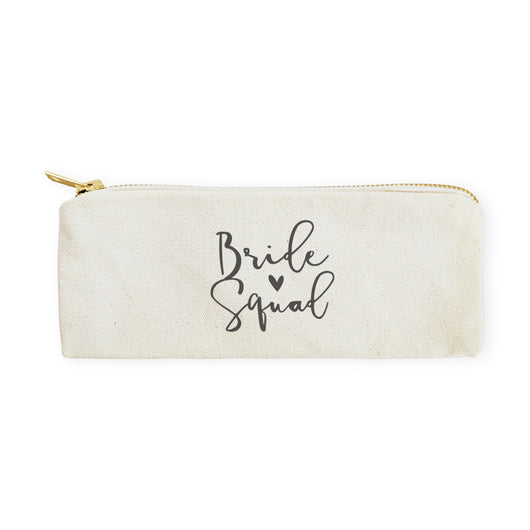 Bride Squad Cotton Canvas Pencil Case and Travel Pouch - The Cotton and Canvas Co.