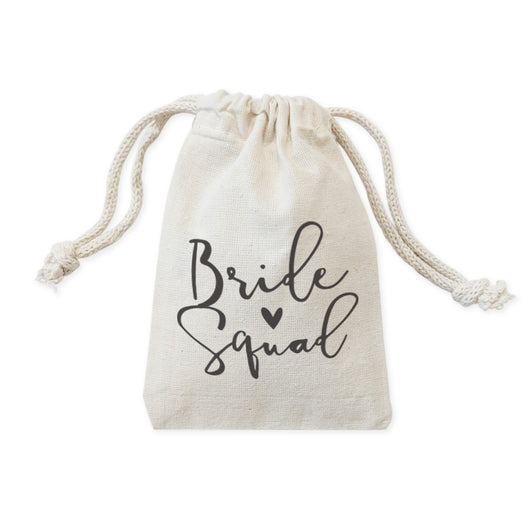 Bride Squad Wedding Favor Bags, 6-Pack - The Cotton and Canvas Co.