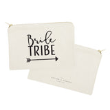 Bride Tribe Cotton Canvas Cosmetic Bag - The Cotton and Canvas Co.