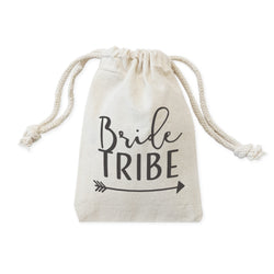 Bride Tribe Wedding Cotton Canvas Favor Bags, 6-Pack - The Cotton and Canvas Co.