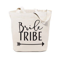 Bride Tribe Wedding Cotton Canvas Tote Bag - The Cotton and Canvas Co.