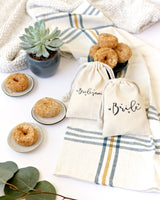 Bride Wedding Cotton Canvas Favor Bags, 6-Pack - The Cotton and Canvas Co.
