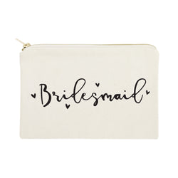 Bridesmaid Cotton Canvas Cosmetic Bag - The Cotton and Canvas Co.