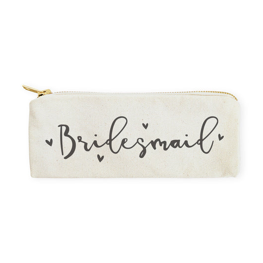 Bridesmaid Cotton Canvas Pencil Case and Travel Pouch - The Cotton and Canvas Co.