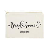 Personalized Bridesmaid Cotton Canvas Cosmetic Bag - The Cotton and Canvas Co.